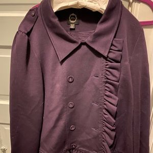 Filter -Nordstrom Brand Plum ruffle jacket